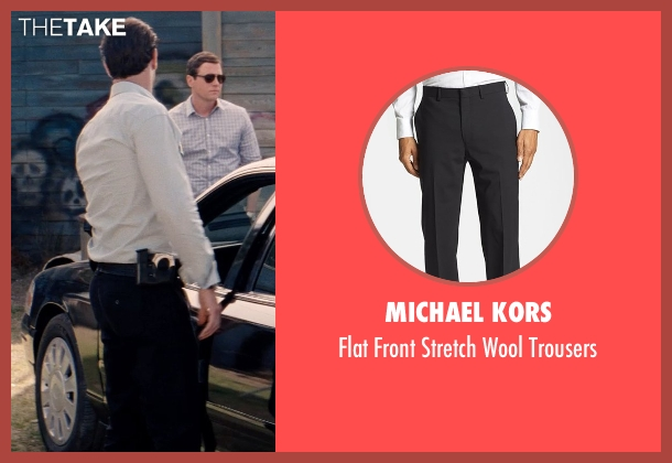 Michael Kors black trousers from Hot Pursuit seen with Matthew Del Negro (Hauser)