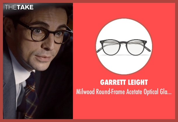Garrett Leight black glasses from Self/Less seen with Matthew Goode (Albright)