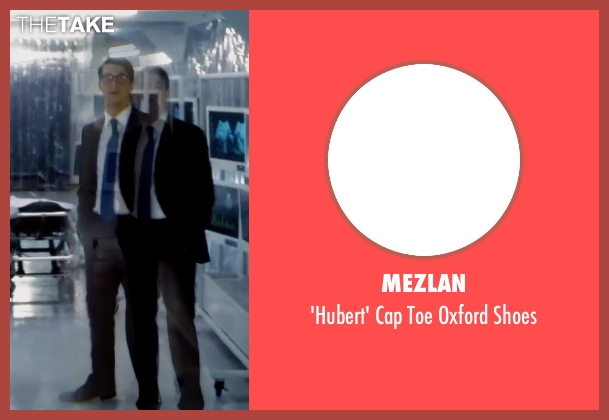 Mezlan black shoes from Self/Less seen with Matthew Goode (Albright)