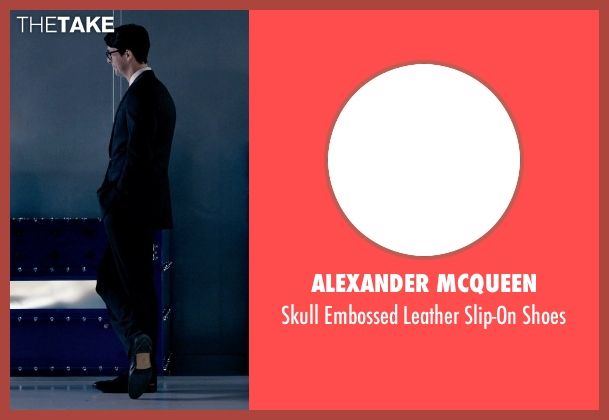 Alexander McQueen black shoes from Self/Less seen with Matthew Goode (Albright)