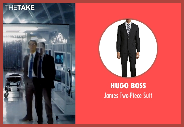 Hugo Boss black suit from Self/Less seen with Matthew Goode (Albright)