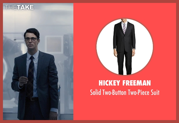 Hickey Freeman black suit from Self/Less seen with Matthew Goode (Albright)