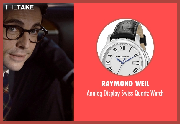 Raymond Weil black watch from Self/Less seen with Matthew Goode (Albright)