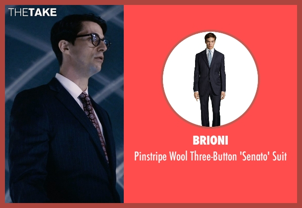 Brioni blue suit from Self/Less seen with Matthew Goode (Albright)