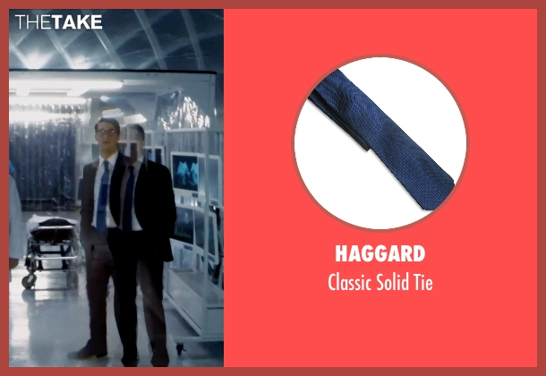 Haggard blue tie from Self/Less seen with Matthew Goode (Albright)