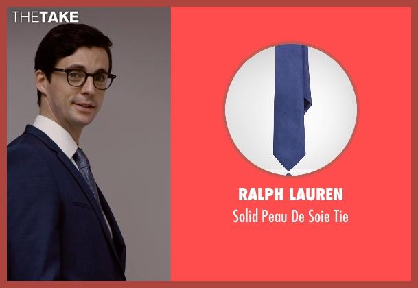 Ralph Lauren blue tie from Self/Less seen with Matthew Goode (Albright)