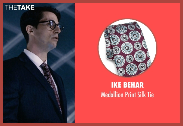 Ike Behar brown tie from Self/Less seen with Matthew Goode (Albright)