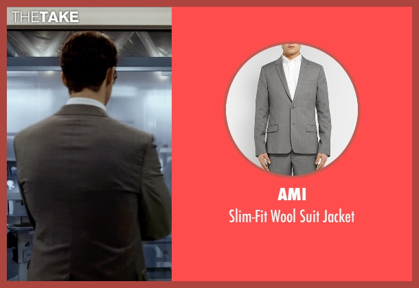 Ami gray jacket from Self/Less seen with Matthew Goode (Albright)