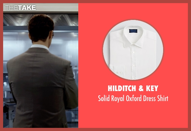 Hilditch & Key white shirt from Self/Less seen with Matthew Goode (Albright)
