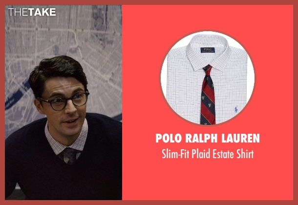 Polo Ralph Lauren white shirt from Self/Less seen with Matthew Goode (Albright)