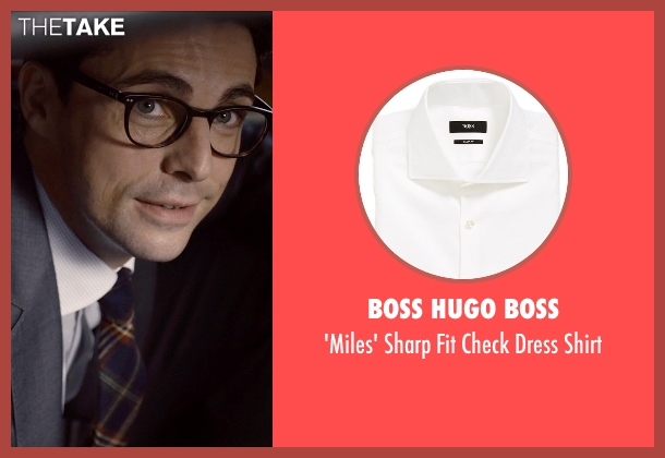 Boss Hugo Boss white shirt from Self/Less seen with Matthew Goode (Albright)