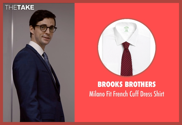 Brooks Brothers white shirt from Self/Less seen with Matthew Goode (Albright)