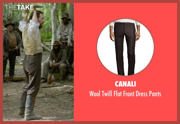 Canali brown pants from Free State of Jones seen with Matthew McConaughey (Newton Knight)