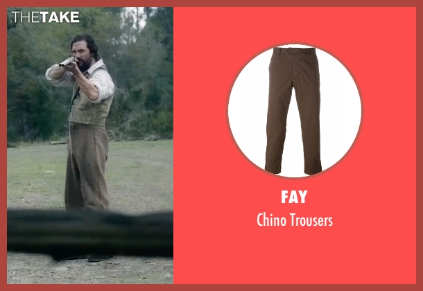 Fay brown trousers from Free State of Jones seen with Matthew McConaughey (Newton Knight)