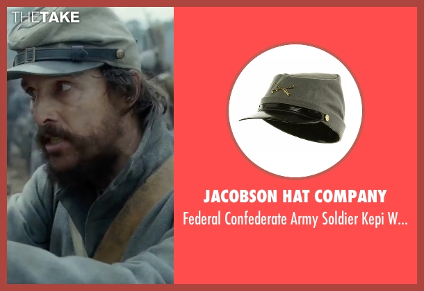 Jacobson Hat Company hat from Free State of Jones seen with Matthew McConaughey (Newton Knight)