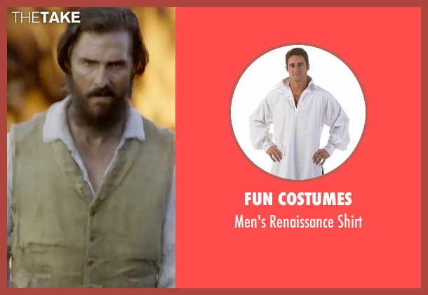 Fun Costumes shirt from Free State of Jones seen with Matthew McConaughey (Newton Knight)