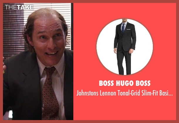 Boss Hugo Boss black suit from Gold seen with Matthew McConaughey (Kenny Wells)