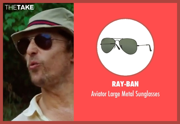Ray-Ban black sunglasses from Gold seen with Matthew McConaughey (Kenny Wells)