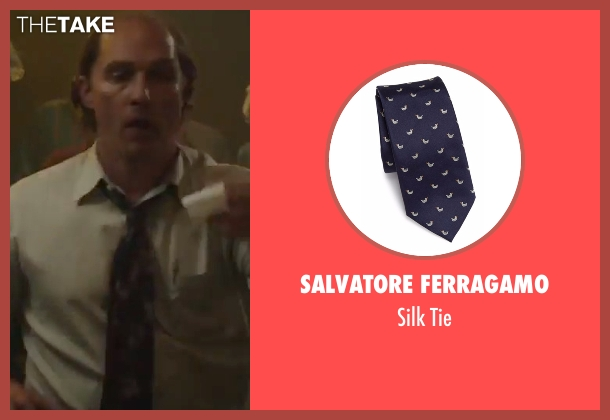 Salvatore Ferragamo blue tie from Gold seen with Matthew McConaughey (Kenny Wells)