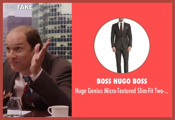 Boss Hugo Boss  brown suit from Gold seen with Matthew McConaughey (Kenny Wells)