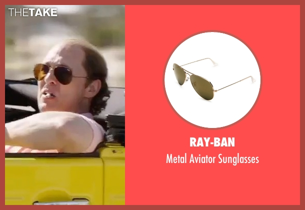 Ray-Ban brown sunglasses from Gold seen with Matthew McConaughey (Kenny Wells)