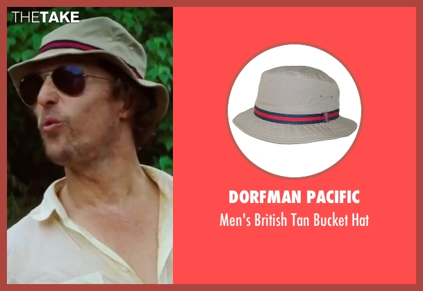 Dorfman Pacific  gray hat from Gold seen with Matthew McConaughey (Kenny Wells)