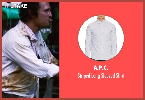 A.P.C. white shirt from Gold seen with Matthew McConaughey (Kenny Wells)