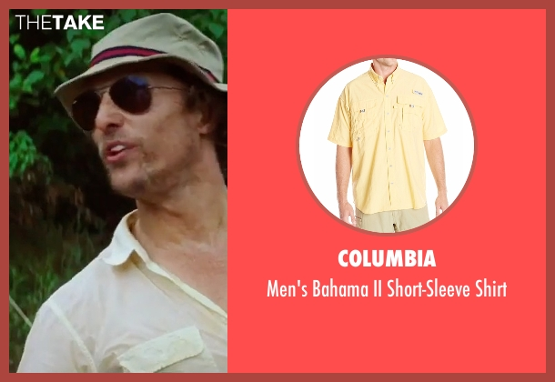 Columbia yellow shirt from Gold seen with Matthew McConaughey (Kenny Wells)