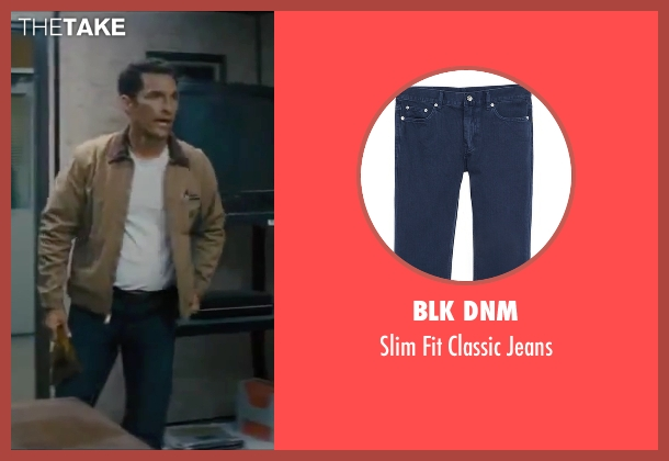 BLK DNM blue jeans from Interstellar seen with Matthew McConaughey (Cooper)