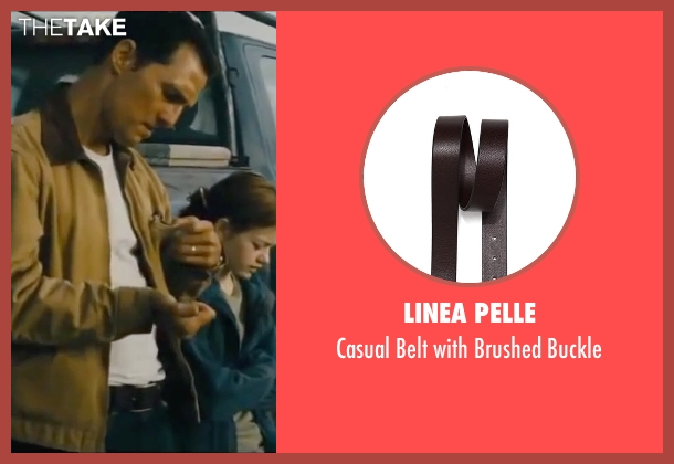 Linea Pelle brown buckle from Interstellar seen with Matthew McConaughey (Cooper)