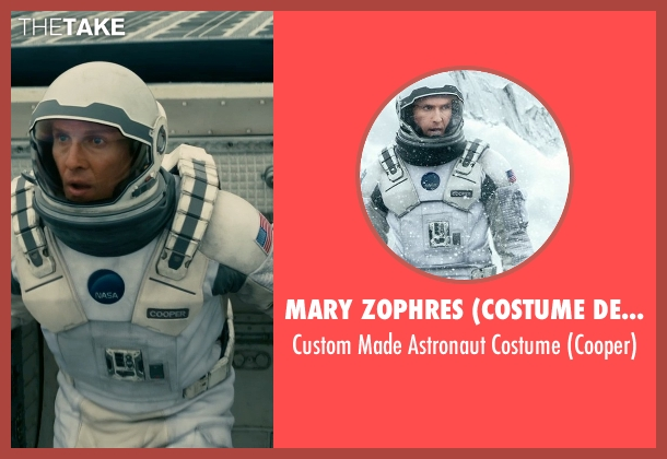 Mary Zophres (Costume Designer) costume from Interstellar seen with Matthew McConaughey (Cooper)