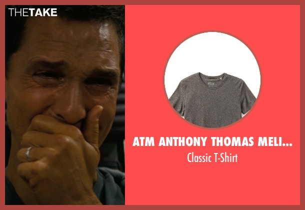 ATM Anthony Thomas Melillo gray t-shirt from Interstellar seen with Matthew McConaughey (Cooper)