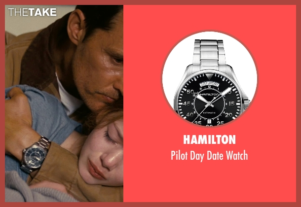 Hamilton silver watch from Interstellar seen with Matthew McConaughey (Cooper)