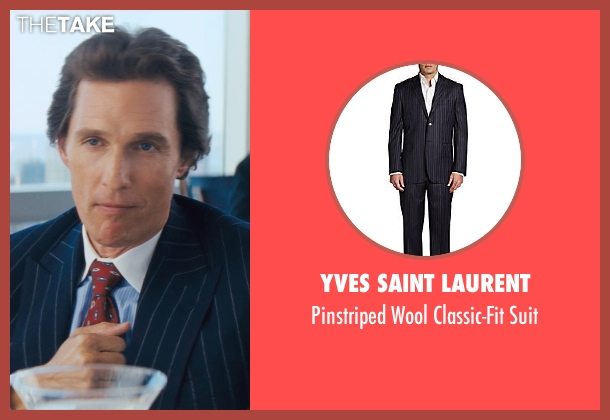 Yves Saint Laurent blue suit from The Wolf of Wall Street seen with Matthew McConaughey (Mark Hanna)