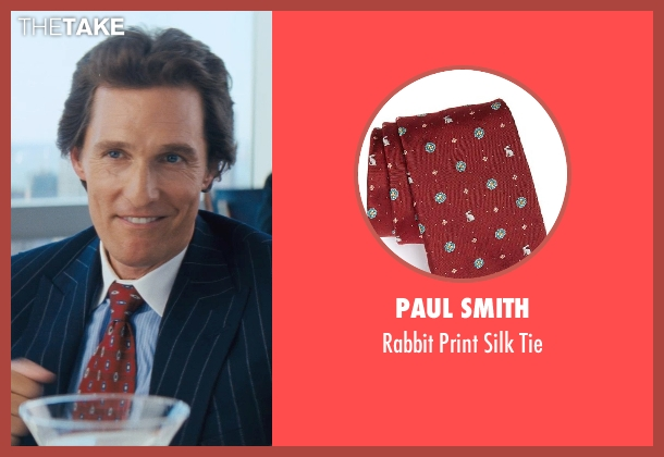 Paul Smith red tie from The Wolf of Wall Street seen with Matthew McConaughey (Mark Hanna)