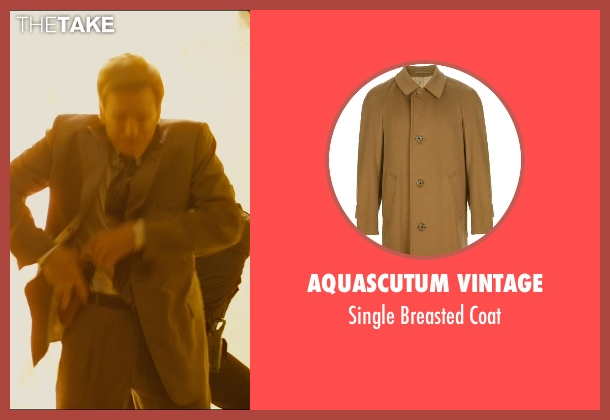 Aquascutum Vintage brown coat from The Dark Knight Rises seen with Matthew Modine (Foley)