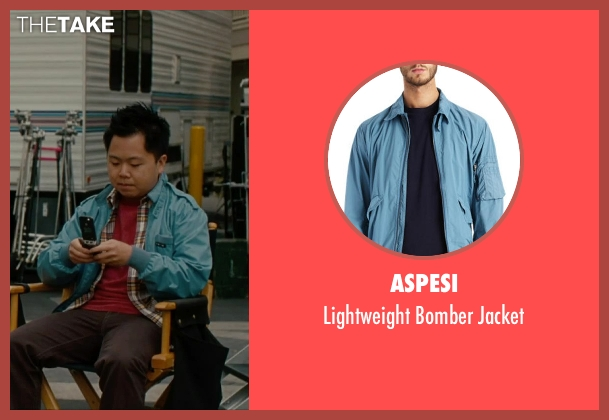 Aspesi blue jacket from No Strings Attached seen with Matthew Moy (Chuck)