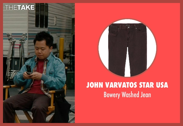 John Varvatos Star USA brown jean from No Strings Attached seen with Matthew Moy (Chuck)