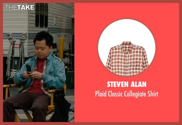 Steven Alan orange shirt from No Strings Attached seen with Matthew Moy (Chuck)
