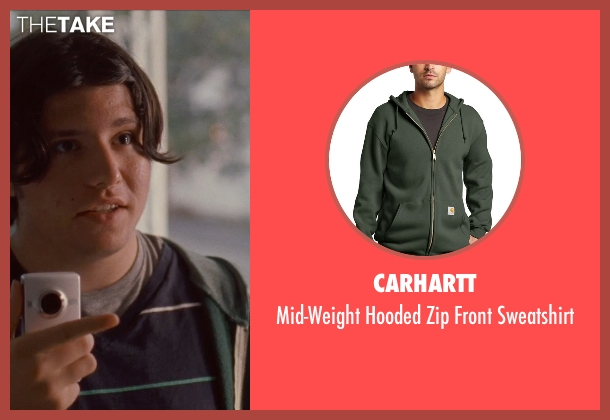 Carhartt green sweatshirt from Silver Linings Playbook seen with Matthew Russell (Ricky D'Angelo)