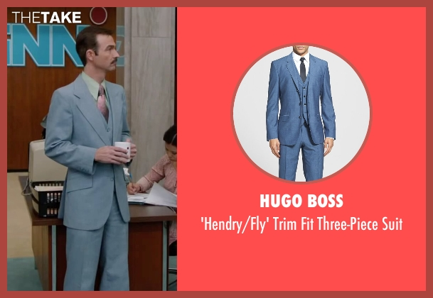 Hugo Boss blue suit from Anchorman 2: The Legend Continues seen with Matthew Stanton (Skinny Guy)