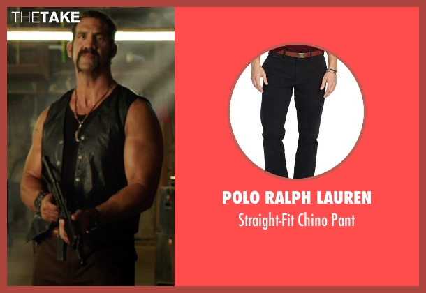 Polo Ralph Lauren black pant from We're the Millers seen with Matthew Willig (One-Eye)