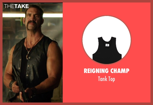 Reigning Champ black top from We're the Millers seen with Matthew Willig (One-Eye)