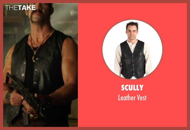 Scully black vest from We're the Millers seen with Matthew Willig (One-Eye)