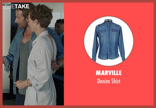 Marville blue shirt from A Bigger Splash seen with Matthias Schoenaerts (Paul De Smedt)