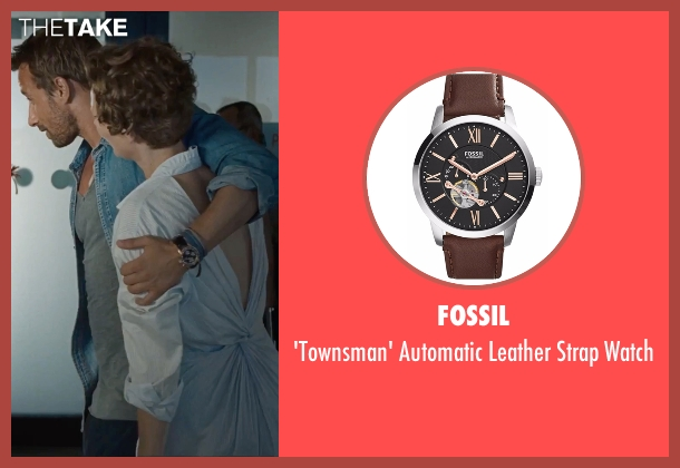 Fossil brown watch from A Bigger Splash seen with Matthias Schoenaerts (Paul De Smedt)