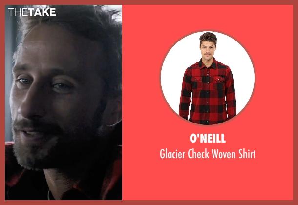 O'Neill red shirt from A Bigger Splash seen with Matthias Schoenaerts (Paul De Smedt)
