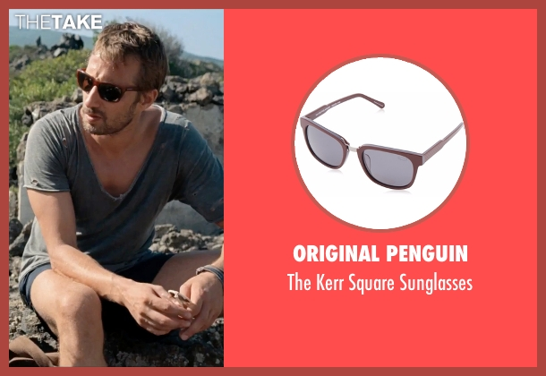 Original Penguin red sunglasses from A Bigger Splash seen with Matthias Schoenaerts (Paul De Smedt)