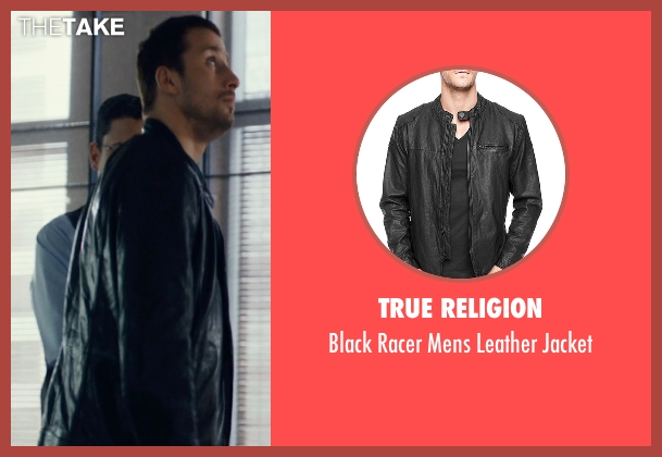 True Religion black jacket from The Loft seen with Matthias Schoenaerts (Philip Trauner)