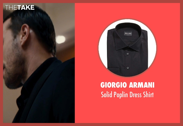 Giorgio Armani	 black shirt from The Loft seen with Matthias Schoenaerts (Philip Trauner)